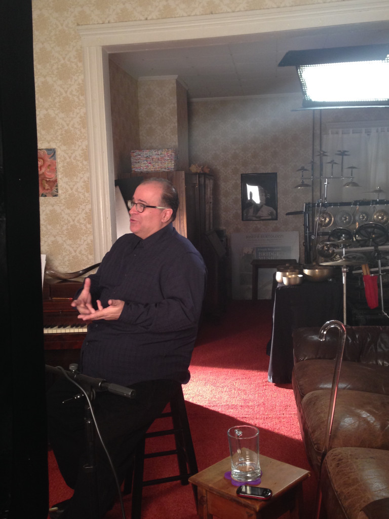 Joseph Bertolozzi during the filming of Andrew Porter's new documentary.