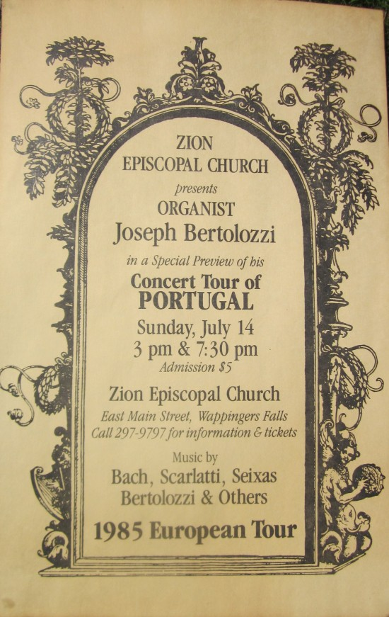 BERTOLOZZI-POSTER FOR KICKOFF CONCERT OF PORTUGAL TOUR 1985