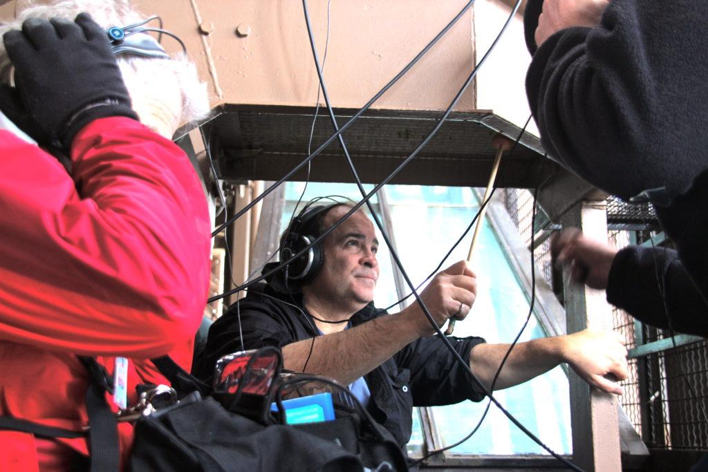 Joseph Bertolozzi recording the Eiffel Tower (c) 2013, Franc Palaia.IMG_2494