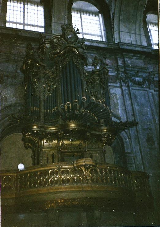 LISBON CATHEDRAL, 1785-1786 Organ by Joachim Antonio Peres Fontanes
