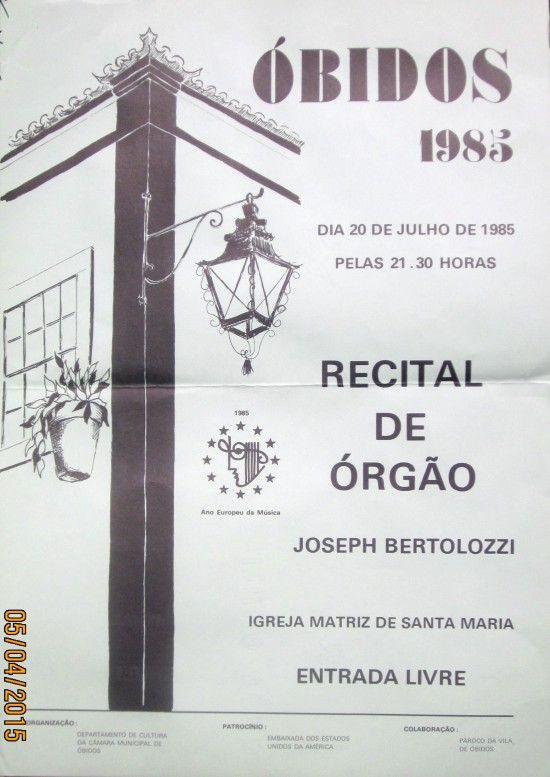 OBIDOS - CONCERT POSTER, 1985