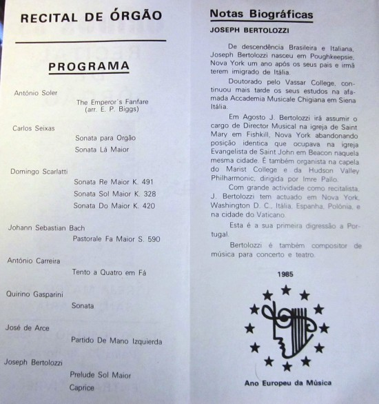 OBIDOS - CONCERT PROGRAM INSIDE,1985