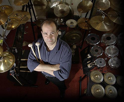 Composer & Percussionist Joseph Bertolozzi. Photo: © 2004, Karl Rabe for the Poughkeepsie Journal